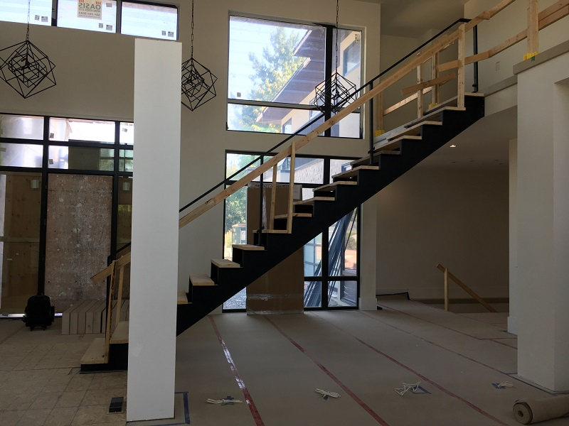 floating metal stairs, custom stair stringers, vancouver, aluminum floating stairs