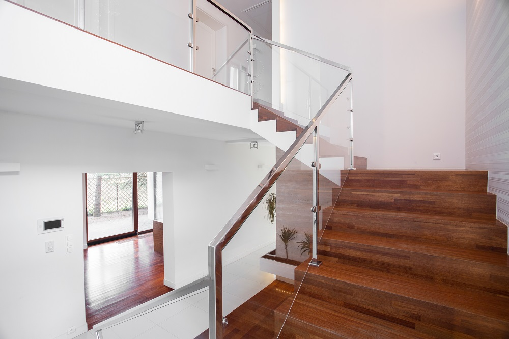 modern interior stair railings, stainless steel, vancouver, bc